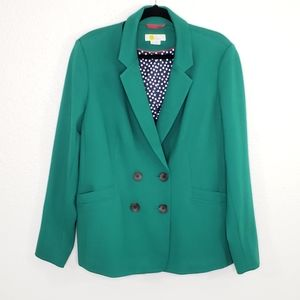 Boden Green Double Breasted Blazer Size 16